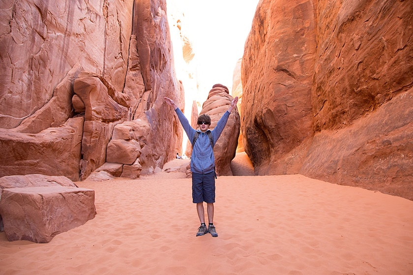 This was a fun hike in lots of sand to Sand Dune Arch.