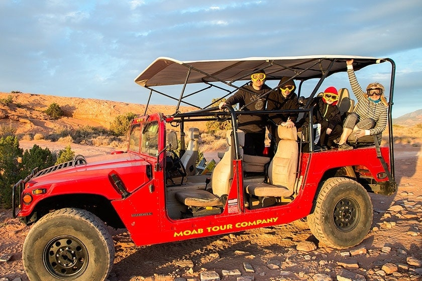 After mountain biking we did the Sunset Hummer Safari with The Moab Tour Company.  It was fantastic!  Terrifying, but fantastic!